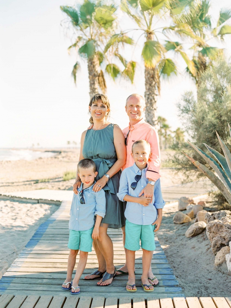 Beach Vow renewal family photography Spain
