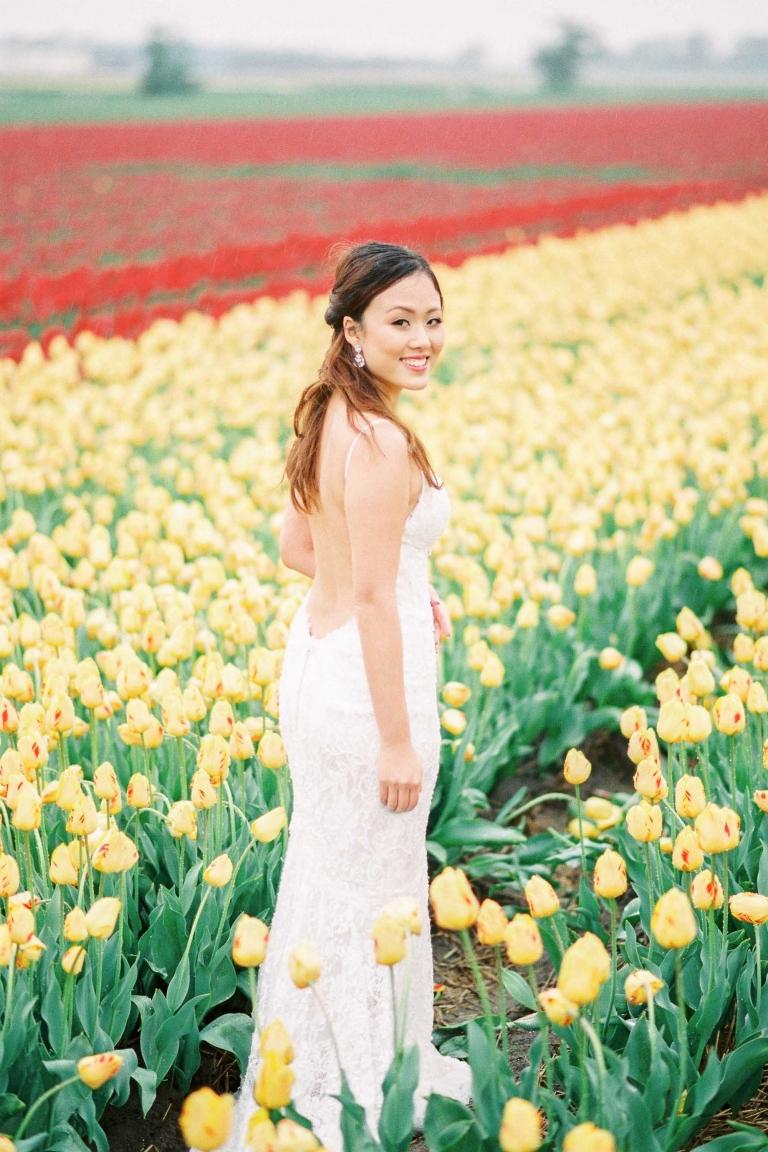 Flower Fields Pre-Wedding Shoot Amsterdam Netherlands